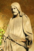 Historic Jesus on the old Prague Cemetery, Czech Republic — Stock Photo