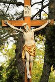 Historische jesus auf dem alten friedhof von prag, tschechische republik — Stockfoto