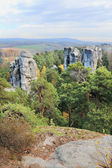 Colorful autumn Landscape in Bohemian Paradise, Czech Republic — Stock Photo