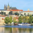 Stock fotografie: Autumn Prague gothic Castle above River Vltava, Czech Republic