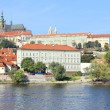 Autumn Prague gothic Castle above River Vltava, Czech Republic — Stok Fotoğraf #35894805