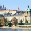 Autumn Prague gothic Castle above River Vltava, Czech Republic — Stock Photo #35895003