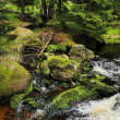 Creek in the beautiful Wilderness, the autumn Mountains Sumava in southern Czech — Stock Photo #36060387