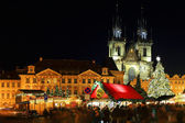 Christmas Mood on the Old Town Square, Prague, Czech Republic — Foto Stock