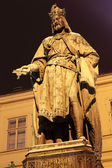 Statue of the Czech King Charles IV. in Prague, Czech Republic — Stock Photo