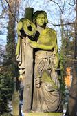 プラハの古い墓地、チェコ共和国からの墓の石の少女 — ストック写真