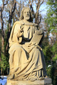 Historic Jesus on the old Prague Cemetery, Czech Republic — Stock Photo