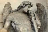 O anjo do antigo cemitério de Praga, República Checa — Fotografia Stock