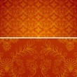 Damask seamless red and gold pattern for design background, royal design element. Vector pattern Illustration — 图库矢量图片