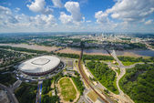 Aerial view of Warsaw — Stock Photo