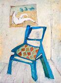 Mavi sandalye — Stok fotoğraf