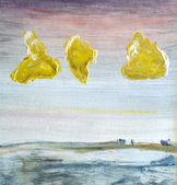 Yellow Clouds — Stock Photo