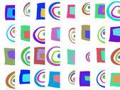 Patrón abstracto color de fondo de los elementos — Foto de Stock