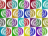 Parlak renkli soyut desen öğeleri arka plan retro — Stok fotoğraf