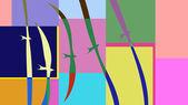 彩色抽象图案 — 图库照片