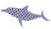 Retro background dolphin — Stock Photo