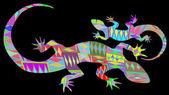 Retro tło jaszczurka — Zdjęcie stockowe