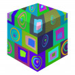 Stock Photo: Cube pattern background