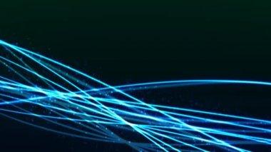 синие линии с частицами — Стоковое видео