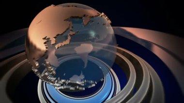 Spinning World Globe — Stock Video