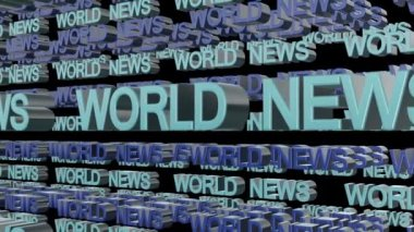 World news title — Stock Video