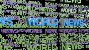 World news title — Stockvideo