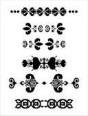 Dekoratif elemanlar bölücüler — Stok Vektör