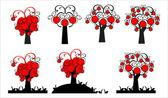 Decorative apple, apple tree — Stock Vector