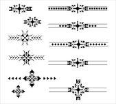 Dekorative grafikelemente trennzeichensatz — Stockvektor