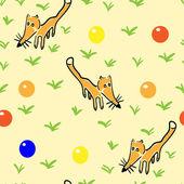 Pattern seamless fox — Stock Vector