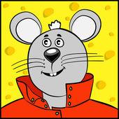 Mysz w kolorze czerwonym — Wektor stockowy