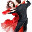 Young couple dancing — Stock Photo