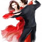 Young couple dancing — Stock Photo
