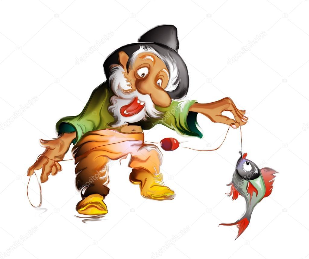 старик пошел на рыбалку
