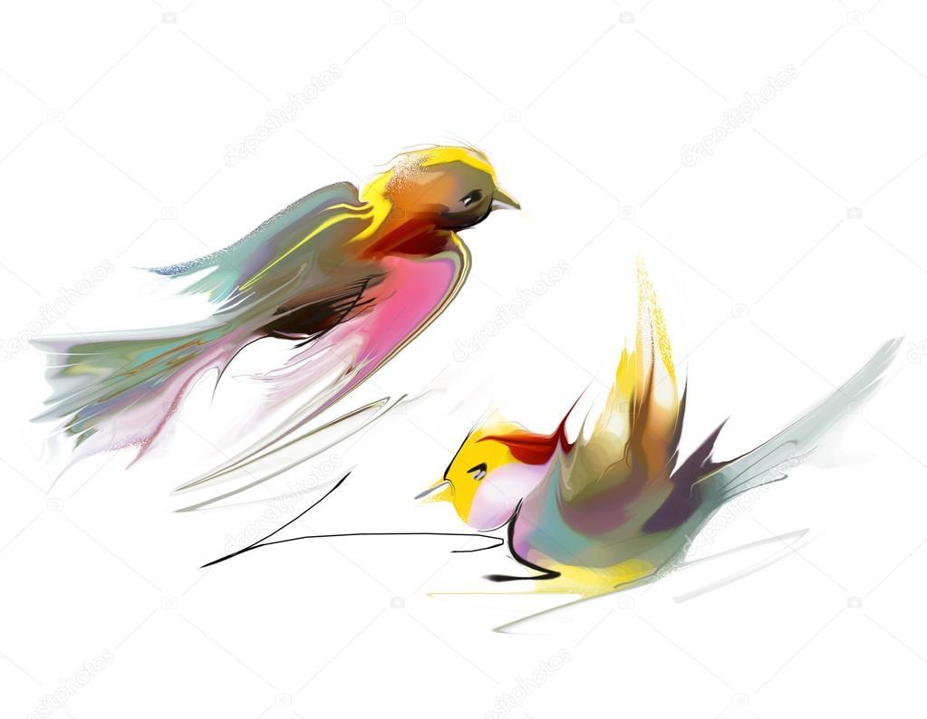 Stock Photo Flying Birds Illustration