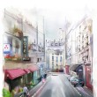 Illustration of city stree — ストック写真