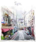 Illustration of Paris — Stock Photo