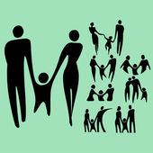 Family life set — Stock Vector