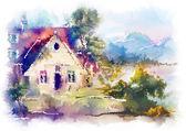 Mountain house — Stock Photo