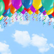 Balloons on sky — Stock Photo