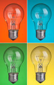 Four light bulbs — Stock Photo