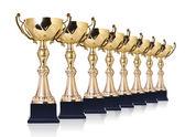 Golden trophies — Stock Photo
