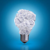 Light bulb of crumpled paper — Stock Photo