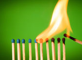 Burning match — Stock Photo