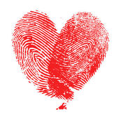 Fingerprint heart — Stock Photo