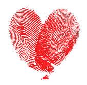 Corazón de huellas dactilares — Foto de Stock