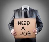 Bir işe ihtiyacım var — Stok fotoğraf