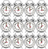 Collection of alarm clocks — Stock Photo