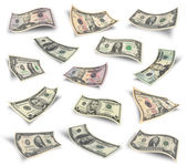 Set of dollar bills — Stock Photo