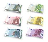 Set of euro banknotes — Stock Photo